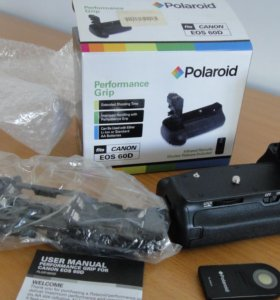 Батарейная блок-ручка polaroid BG-E8, BG-Е9 canon
