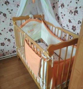 Кроватка детская+матрас
