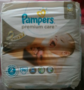 Pampers premium care 2, 96штук.
