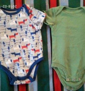 Бодики унисекс 0-6 месяцев и костюмчик