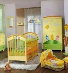 детская мебель ( стенка, камод, кроватка)