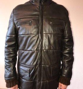 Кожаная куртка зимняя (Италия) Alex&Co, размер 52