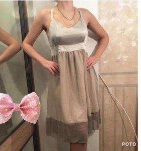 Платье вечернее атлас и шифон 44 46 размер