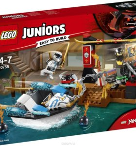 Конструктор LEGO Juniors: Погоня на моторной лодке