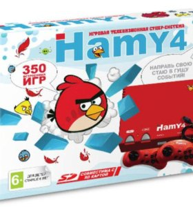 Сега и денди 2в1 Hamy 4(350-in-1) Angry Birds Red