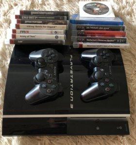 PlayStation 3 40Gb + 14 игр