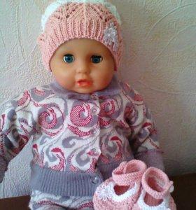 Комплекты для малышей( шапочка,пинетки)