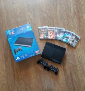 Sony playstation 3 с 2 джойстиками 500gb