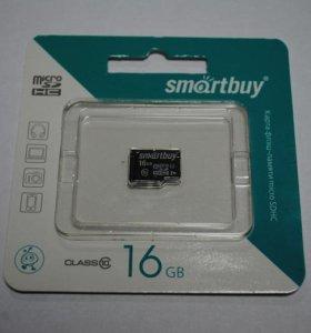 Карта Памяти 16 Гб MicroSD SmartBuy Class10
