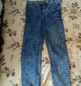 джинсы на высокой талии