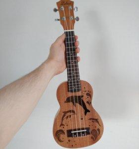 """Шикарная укулеле сопрано 21"""" гавайская гитара"""