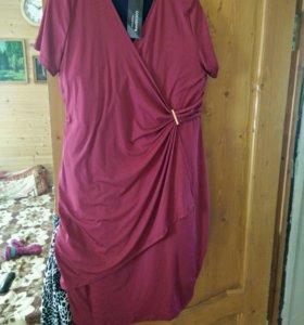 Платье новое бордо,на 56размер