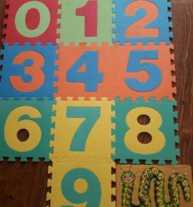 Коврик-пазл(цифры),азбука.