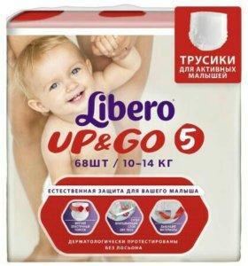 Трусики-подгузники Libero Up and Go 10-14кг 68шт