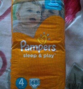 Pampers sleep&play 4, 68шт
