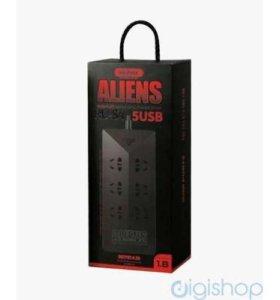 Сетевой фильтр Remax RU-S4 Aliens 5USB (5V/4.2A)