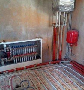 Монтаж Отопление,водоснабжение,канализация
