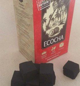 Кокосовый уголь ecocha 25 мм
