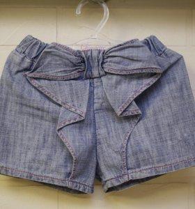 Шорты джинсовые на 2-3г