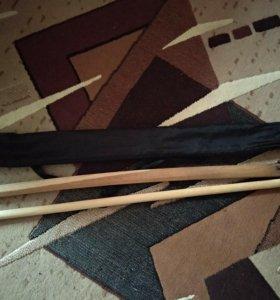 Оружие для айкидо (боккен и джо)+ чехол для них