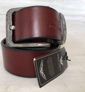 Мужской кожаный ремень Armani