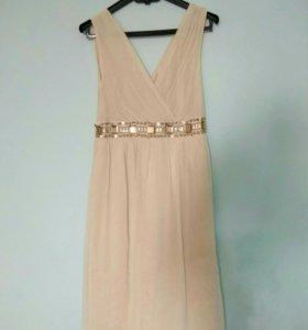 Платье летнее кремовое размер 42-44