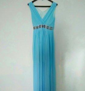 Платье нежное летнее голубое