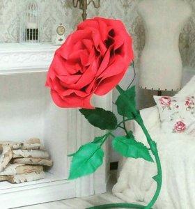 Большие цветы из фоамирана