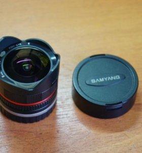 Samyang 8mm Fisheye.