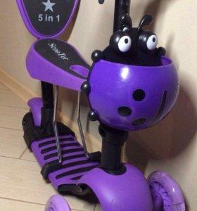 Самокат-беговел Фиолетовый