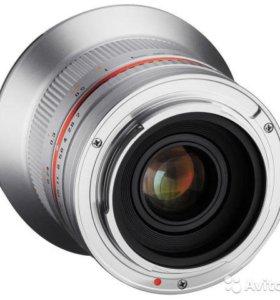 Samyang 12mm f2 Серебристый Sony E