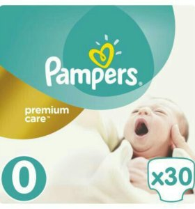 Подгузники Pampers premium care 0
