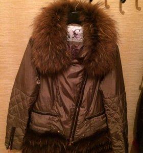 Шикарная куртка с мехом