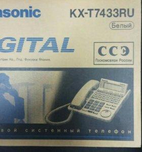 Системный телефон Panasonic kx-t7433ru (черный)