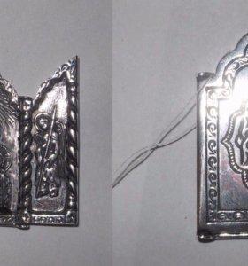 Иконка серебряная богоматерь