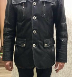 Куртка кожаная 48-50 размер