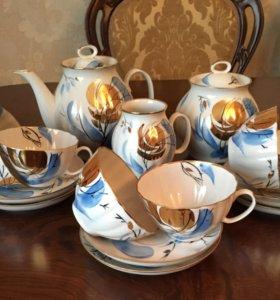 Чайный фарфоровый сервиз Дулево