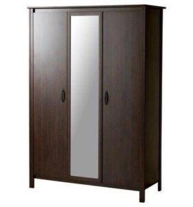 Шкаф платяной 3-дверный ikea брусали