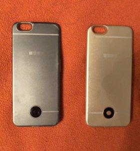 Аккумулятор-чехол для iPhone 6-8 две штуки