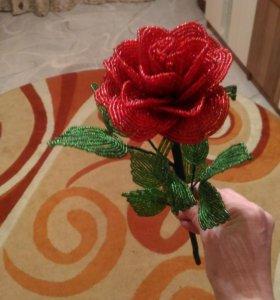 Бисер. Роза.