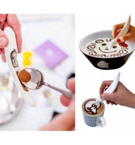 Ручка для рисования на кофе