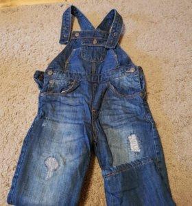Утепленный джинсовый комбинезон ZARA