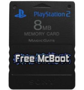 Карта для PS2 с fmcb для запуска игр с USB