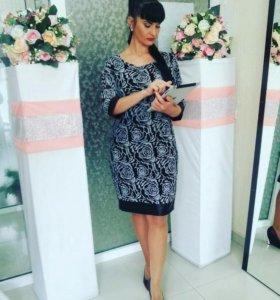 Платье Дама сетка на подкладе М