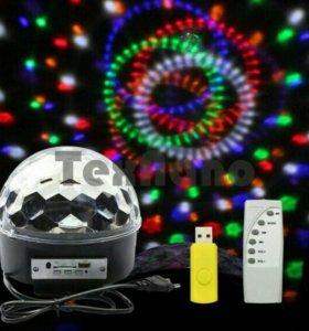 Диско-шар с USB новый