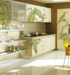 Покраска роспись и аэрография мебельных фасадов
