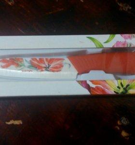 Нож кухонный с керамическим лезвием 10 см. НОВЫЙ