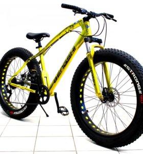 """Велосипед 26"""" Фэтбайк Bengshi, gold , высокая рама"""