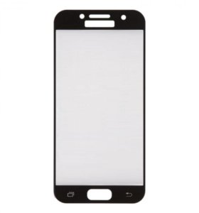 стекло для Samsung Galaxy A3 2017 (черная рамка)