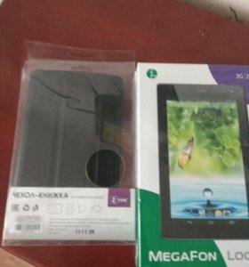 Новый планшет звонилка Мегафон логин 3g +чехол